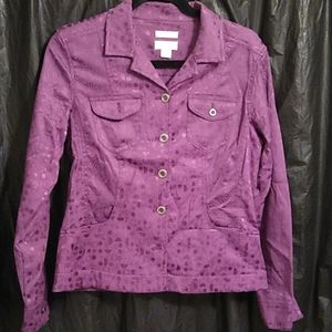 Christopher and Banks purple button up jacket S